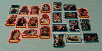 Vintage Star Wars ROTJ Trading Cards  Stickers  x 22 Topps   c1983