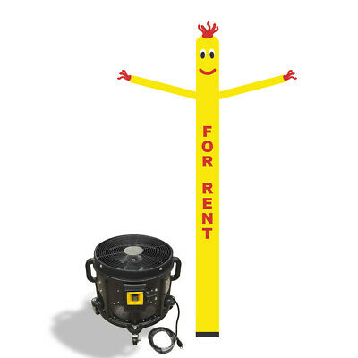 For Rent Air Inflatable Sky Puppet Great Dancer -20FT Yellow + 3/4 HP Blower