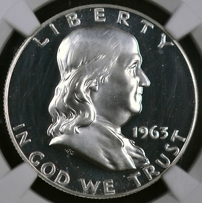 1963 50C Franklin Half Dollar Proof - Ngc Pf 68 Cameo 4189921-017
