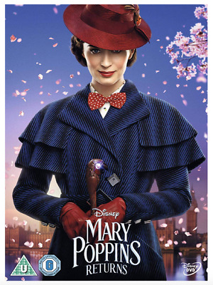 Mary Poppins Returns - Emily Blunt UK DVD Region 2 Stock 2019 - Brand New