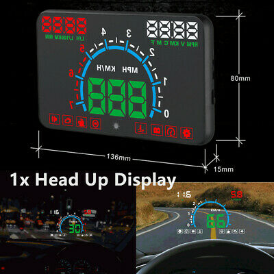 5.8'' Car HUD Head Up Display Speedometer Windshield Dashboard Projector OBD II