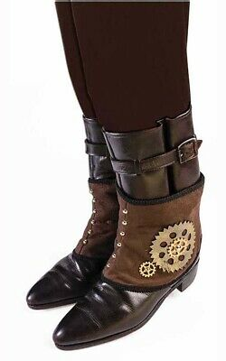 Steampunk Spats Boot Tops Adult Mens Costume Accessory