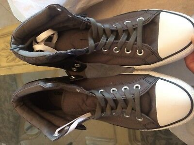 0ea8ae8cb227 CONVERSE CT PC2 MID Charcoal Grey CANVAS SNEAKERS 135644C MENS SIZE ...