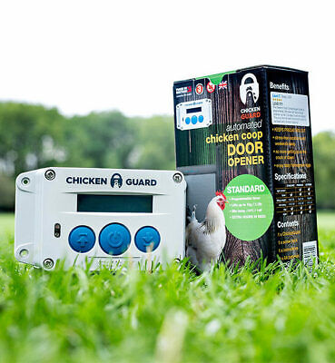 ChickenGuard AS Standard Automatic Chicken Coop Door Opener with Timer