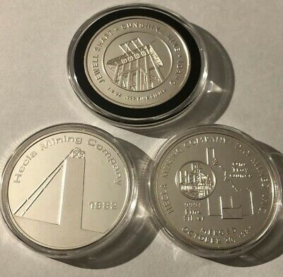 1982 Bunker Hill BH-5 Silver Refinery 1 Troy Oz .999 Fine Round Proof Coin 999