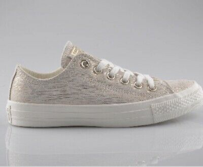 f6cca13d5d1f Women s CONVERSE ALL STAR Metallic Precious Metals Egret Beige Leather Size  10