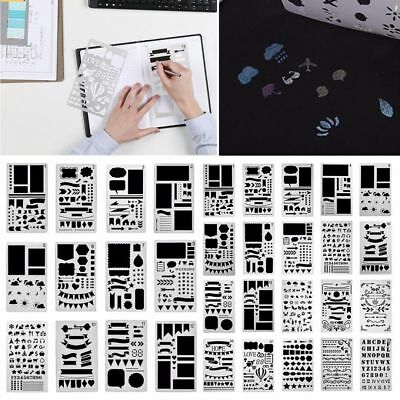 12/20pcs Bullet Journal Stencil Set Plastic Planner DIY Drawing Template Diary