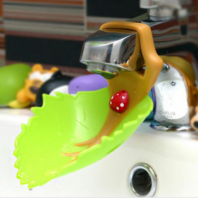 Cute Leaf  Water Tap Faucet Crab Extender For Kids Washing Hand Bathroom Sink
