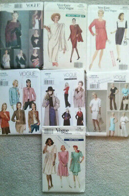 Vogue Patterns, Lot of 7, Uncut, Vintage design.