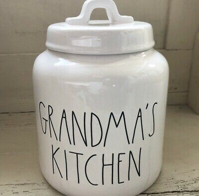 "Rae Dunn Canister ""GRANDMA'S KITCHEN"" NEW! HTF!! *LOW Shipping!* 🌼👵🏼"