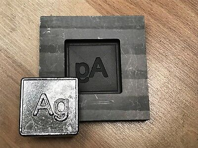 AG ELEMENT GRAPHITE Silver mold for making 3D coins, pendants gold PRO-MOLD  AR8