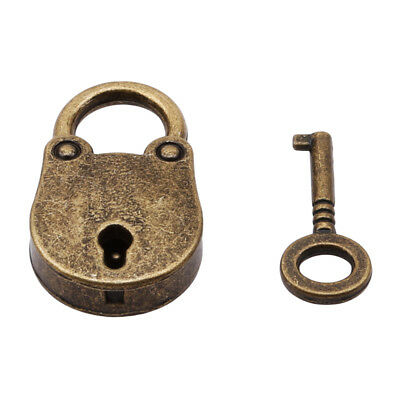 Vintage Old Antique Style Mini Archaize Padlocks Key Lock With key Useful QP