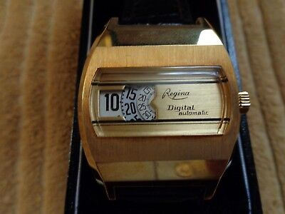 Regina Digital Automatic Vintage Rare Men's Wrist Watch NOS