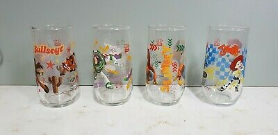 IXL Glass Toy Story Limited Edtn Collectible Tumblers No.'s 3,4,5 & 7.