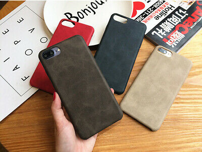 Genuine PU Leather Thin Slim Case Cover Apple iPhone X Xs Max 8 7 6