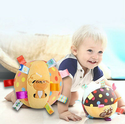 Lovely Baby Gifts Cute Plush Cotton Rattles Toys Cloth Ball Hand Grasp Bell