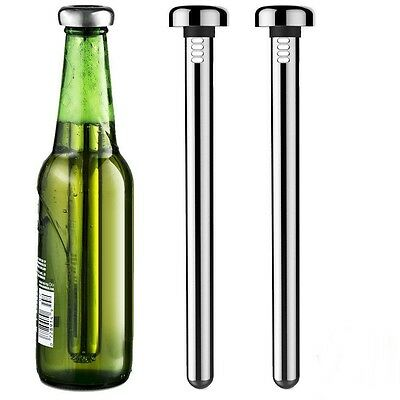 2Pcs Home Beer Chiller Stick Stainless Steel Cooler Stick Wine Cooling Stick