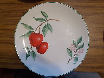 Homer Laughlin Rhythm RED APPLE Luncheon Plates