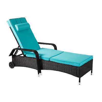 All Weather Wicker Patio Recliner Chair Relaxing Lounge Chaise