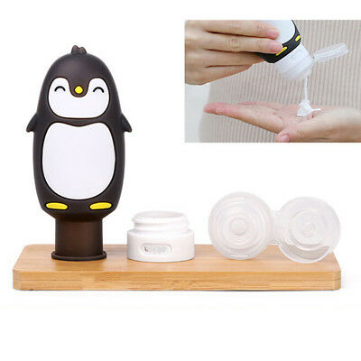 Cute Penguin Silicone Travel Bottle Lotion Shampoo Cosmetic Tube Container 90ml