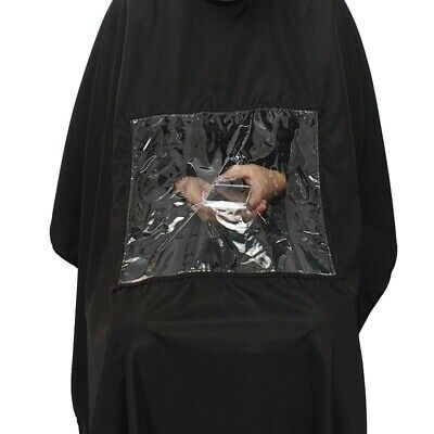 Salon Apron With Viewing Window Hairdresser Barber Hair Cutting Gown Cape DL5
