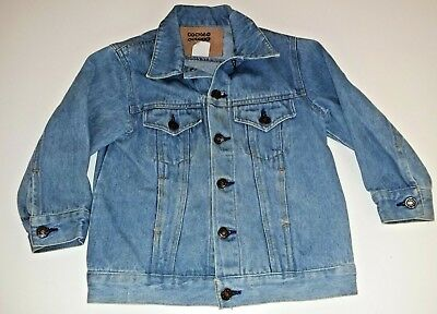 Size 5 Boys Or Girls Blue Denim Long Sleeve Jacket