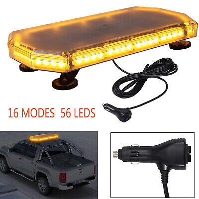 12/24V 56LED Amber Strobe Light Emergency Warning Flashing Lamp Beacon Magnetic