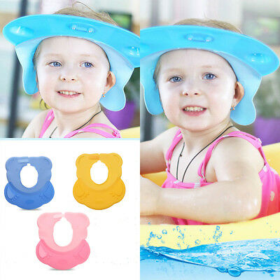 Bathing Shower Shampoo Bath Cap Hat Hair Shield for Kids Baby Adjustable Style Q
