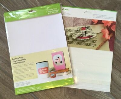 photograph relating to Printable Vinyl named CRICUT PRINTABLE VINYL and Printable Very clear Sticker Deal ~2 Packs ~ Clean!