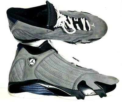 uk availability e546d 57faa Nike Air Jordan 14 XIV Retro DS Mens Light Graphite Mid Navy Sz 12 311832-