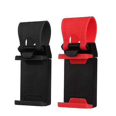 Universal Car Steering Wheel Clip Mount Holder Cradle Stand For Phone GPS Chic