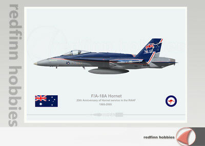 Warhead Illustrated F/A-18A 20th Anni.of Hornet Service in the RAAF print