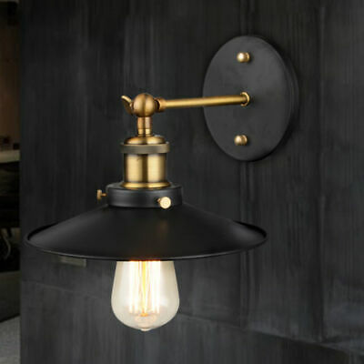 Modern Retro Vintage Industrial Loft Style Metal Glass Rustic Sconce Wall Light