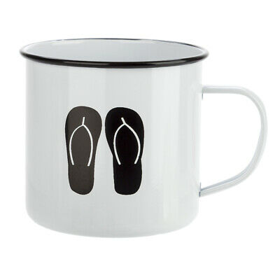 NEW Retro Kitchen Thongs Enamel Mug