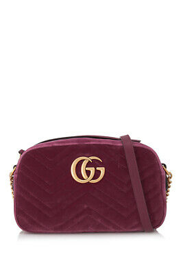 8e7f74ff297 Pre-Owned Gucci GG Marmont Velvet Shoulder Bag (Pink  Leather