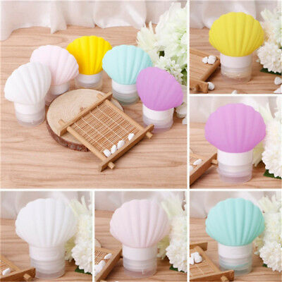Cute Seashell Silicone Portable Travel Packing Bottle Lotion Shampoo Container