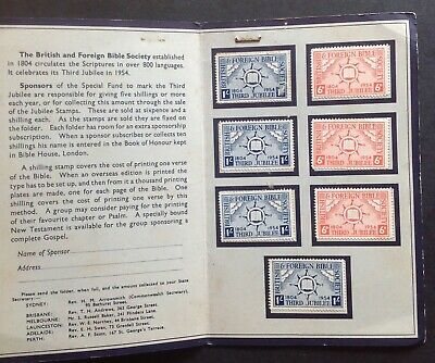 British and Foreign Bible Society 1804 - 1954 3rd Jubilee stamp cinderellas