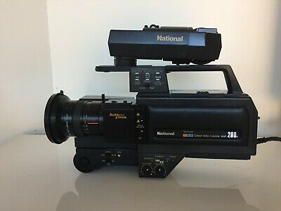 Vintage National Saticon Colour Video Camera WVP 200N with Auto Focus Lens