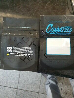 100x Connected Mylar Bag Cali Label