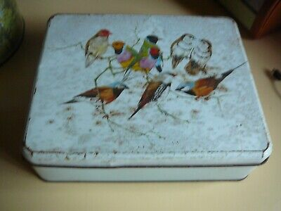 vintage tin cute birds willow lollies chocolates biscuits