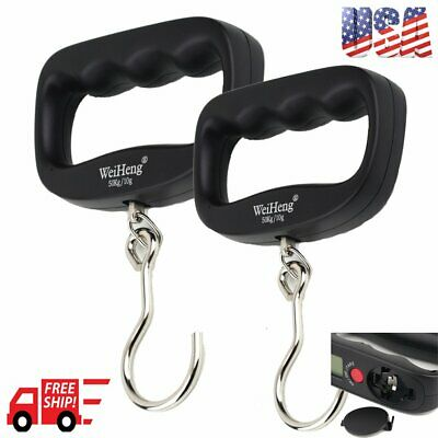 2X Portable 50kg/10g LCD Digital Hanging Luggage Weight Electronic Hook Scale