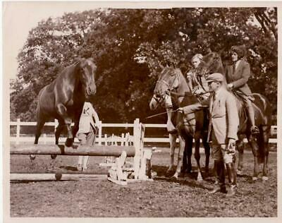 Tranmore Middelsex Horse Jump Trained Equitation saut d'obstacle old Photo 1934