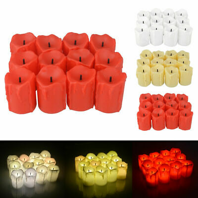 12PCS Flameless Votive Candles Battery Operated LED Tea Light Wedding Party Home