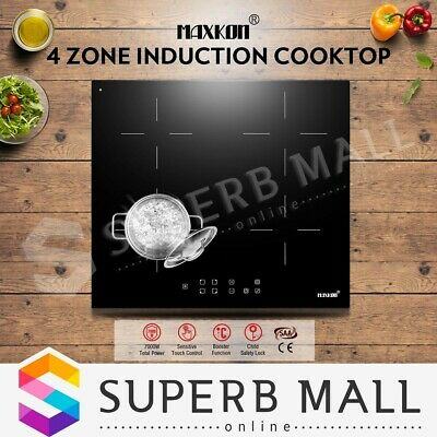 Brand New 60cm 4 Zone Ceramic Cooktop Touch Control Timer LCD 7000W & Child Lock