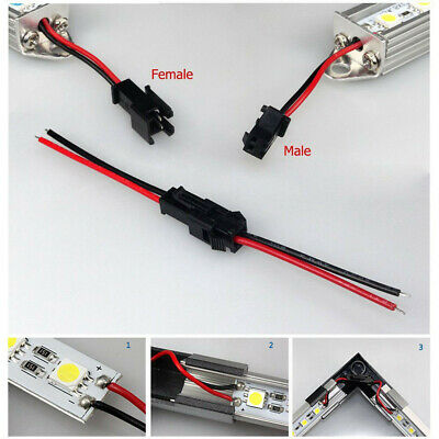 10Pairs 2PIN Male and Female Connector Wire Cable For 3528 5050 LED Strip Lights