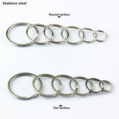 Stainless Steel Split Ring Round Key Rings Double Loop Keychian 10-1000Pcs
