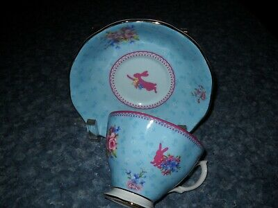 Royal Albert Blue Bunny  Tea cup and saucer