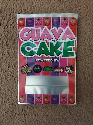 1x Guava Cake Mylar Bag Cali tin label CaliLabels