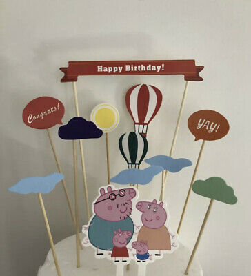 10pcs Peppa Pig Cake Toppers
