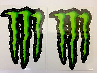 GENUINE 2x Monster Energy Large Stickers Decals Motorsport, Drift, Track, Mx